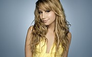Music Producer Framed Prints - Ashley Tisdale Framed Print by Sanely Great