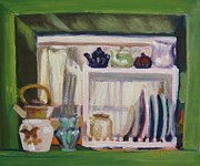 Kitchen Window Paintings - Ashleys Kitchen Window by Katrina West