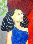 Young Woman Pastels - Ashli- Her Strength by LeWanda Laboy