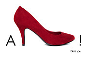 Funny Shoe Prints - AShoe - Bless you Print by Natalie Kinnear