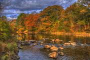 New Hampshire - Ashuelot River in Autumn - New Hampshire by Joann Vitali
