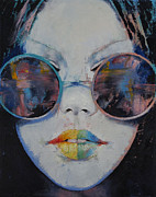 Sunglasses Painting Posters - Asia Poster by Michael Creese