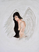 Shargel Pastels Posters - Asian Angel Poster by Danae McKillop
