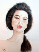 Beauty Mark Mixed Media - Asian Beauty by Jim Fitzpatrick