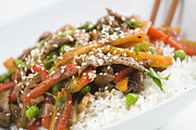Stir Prints - Asian Beef Stir-Fry Print by Brandon Smith