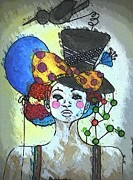 Amy Sorrell Paintings - Asian Clown by Amy Sorrell
