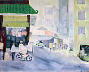 Asian Market Paintings - Asian Marketplace by Aleezah Selinger