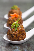 Beef Photo Posters - Asian meatballs Poster by Jane Rix