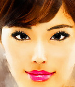 Robert Matson Posters - Asian Woman Poster by Robert Matson