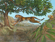 Leopard Running Framed Prints - Asiatic Cheetah Framed Print by ACE Coinage painting by Michael Rothman
