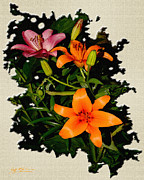 Jeff Mcjunkin Prints - Asiatic Lilies Orange Print by Jeff McJunkin