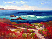 Big Sur Beach Originals - Asilomar Beach Spring Morning by Karin  Leonard