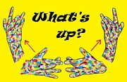 Hearing Digital Art Prints - ASL Whats Up? Print by Eloise Schneider
