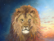 Creation Pastels Posters - Aslan Creator Poster by James R C Martin