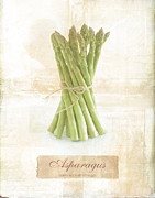 Cooking Ingredient Digital Art Posters - Asparagus. Poster by Mark Preston