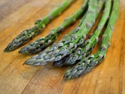 Cooking Ingredient Digital Art Posters - Asparagus Poster by Michelle Calkins