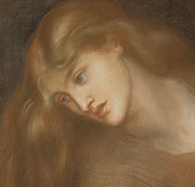 Featured Pastels Framed Prints - Aspecta Medusa Framed Print by Dante Charles Gabriel Rossetti