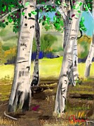 The Trees Mixed Media - Aspen at the Glen by Craig Nelson
