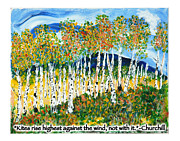 Kites Mixed Media - Aspen Forest by Christy Woodland