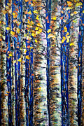 Deep Digital Art Originals - Aspen Grove by OLena Art