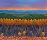 Autumn Foliage Painting Prints - Aspen Perspective Print by Johnathan Harris