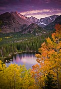 Longs Peak Photos - Aspen Sunset Over Bear Lake by Mike Berenson