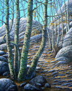 Lake Tahoe Paintings - Aspen Trail by Frank Wilson