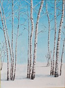 Melvin Turner - Aspens in Snow