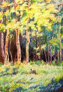 National Pastels Originals - Aspens on the North Rim by Katrina West