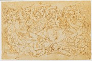 Pen And Ink Drawing Art - Aspertini Amico, Trajans Battle, 1496 by Everett