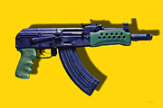 Police Metal Prints - Assault Rifle Pop Art - 20130120 - v2 Metal Print by Wingsdomain Art and Photography