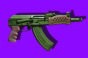 Police Metal Prints - Assault Rifle Pop Art - 20130120 - v4 Metal Print by Wingsdomain Art and Photography