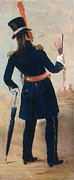 European Artwork Posters - Assiniboine Warrior In Regimental Poster by Photo Researchers