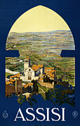 Old Town Digital Art Posters - Assisi Italy Poster by Nomad Art And  Design