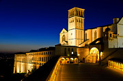 Francis Photo Framed Prints - Assisi Nightfall Framed Print by Jon Berghoff