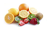 Eat Photo Metal Prints - Assorted fruit Metal Print by Elena Elisseeva