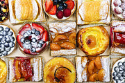 Cakes Posters - Assorted tarts and pastries Poster by Elena Elisseeva