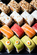 Ethnic Food Posters - Assortment of Sushi Poster by Ilan Amihai