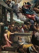 Famous Artists - Assumption of Mary by Annibale Carracci