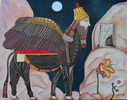 Serfinski Painting Originals - Assyrian Guardian by Karen Serfinski