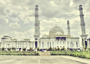 At Work Framed Prints - Astanas White Mosque Framed Print by Emily Enz