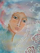 Religious Art Mixed Media Prints - Astara Print by Maya Telford