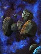 Outerspace Paintings - Asteroids by Murphy Elliott