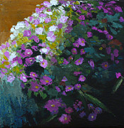 Melody Painting Originals - Asters by Melody Cleary