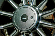 Aston Martin Framed Prints - Aston Martin DB7 Wheel Emblem Framed Print by Jill Reger