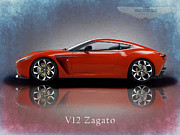 Aston Martin Framed Prints - Aston Martin V12 Zagato Framed Print by Mark Rogan