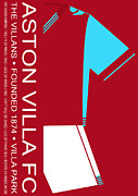 Home Football Game Posters - Aston Villa Football Club Poster by Neil Finnemore