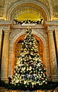 Library Digital Art - Astor Hall Christmas by Diana Angstadt