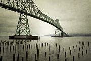 Steel Greeting Cards Framed Prints - Astoria Bridge Oregon Framed Print by Andrea Hazel Ihlefeld