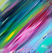 Astral Paintings - Astral Shower by Kim Hamrock